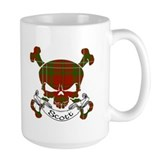 Scott Tartan Skull Coffee Mug