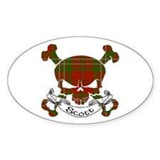 Scott Tartan Skull Decal