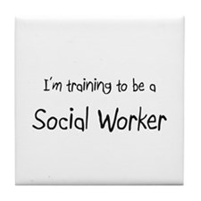 I'm training to be a Social Worker Tile Coaster