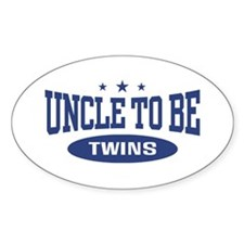 Uncle To Be Twins Oval Decal