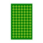 Field Of Yellow Flowers Rectangle Sticker