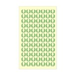 Laurels On Yellow Rectangle Sticker