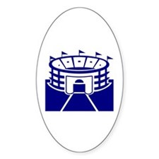 Blue Sports Stadium Oval Decal