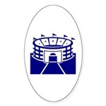 Blue Sports Stadium Oval Sticker