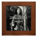 Heroine / Saint Joan of Arc Framed Tile