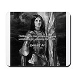 Heroine / Saint Joan of Arc Mousepad