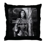 Heroine / Saint Joan of Arc Throw Pillow