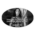 Heroine / Saint Joan of Arc Oval Sticker