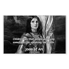 Heroine / Saint Joan of Arc Rectangle Decal