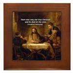 Christianity: Truth / Myth Framed Tile