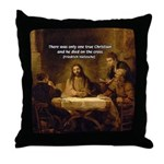Christianity: Truth / Myth Throw Pillow