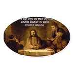 Christianity: Truth / Myth Oval Sticker