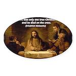 Christianity: Truth / Myth Oval Sticker