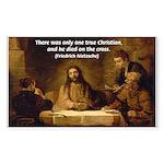 Christianity: Truth / Myth Rectangle Sticker