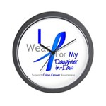 Colon Cancer DaughterInLaw Wall Clock