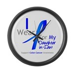 Colon Cancer DaughterInLaw Large Wall Clock