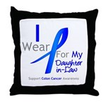 Colon Cancer DaughterInLaw Throw Pillow