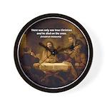 Christianity: Truth / Myth Wall Clock