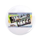 "Niagara Falls Greetings 3.5"" Button"