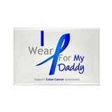 Colon Cancer Daddy Rectangle Magnet (10 pack)