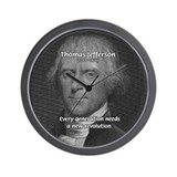 Revolution Thomas Jefferson Wall Clock