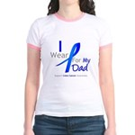 Colon Cancer Dad Jr. Ringer T-Shirt