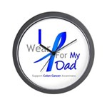 Colon Cancer Dad Wall Clock