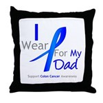 Colon Cancer Dad Throw Pillow