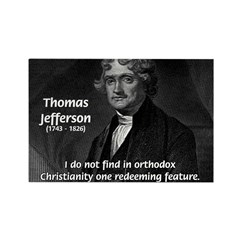 President Thomas Jefferson Rectangle Magnet (100 p