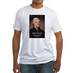 Work and Luck Jefferson Fitted T-Shirt