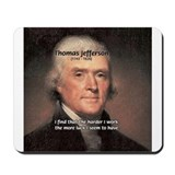 Work and Luck Jefferson Mousepad