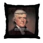 Work and Luck Jefferson Throw Pillow