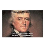 Work and Luck Jefferson Postcards (Package of 8)