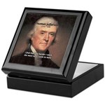 Work and Luck Jefferson Keepsake Box