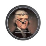 Work and Luck Jefferson Wall Clock