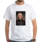 Work and Luck Jefferson White T-Shirt