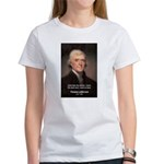 Work and Luck Jefferson Women's T-Shirt