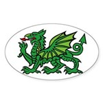 Midrealm green dragon Vinyl euro-style sticker