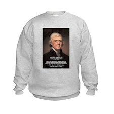 Media Thomas Jefferson Kids Sweatshirt