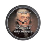 Media Thomas Jefferson Wall Clock