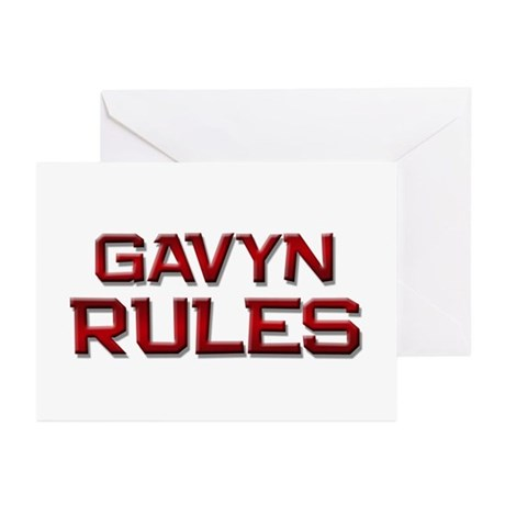 gavyn rules Greeting Cards (Pk of 20)