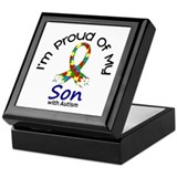 Proud Of My Autistic Son 1 Keepsake Box