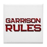 garrison rules Tile Coaster
