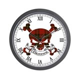 Skinner Tartan Skull Wall Clock