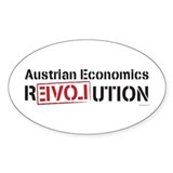 Austrian Economics Revolution Oval Decal