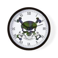 Smith Tartan Skull Wall Clock