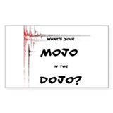 Mojo in the Dojo Rectangle Sticker 10 pk)