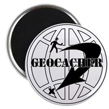 "Global Geocaching 2.25"" Magnet (10 pack)"