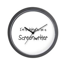 I'm training to be a Screenwriter Wall Clock