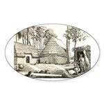 Hawaiian Village Oval Sticker